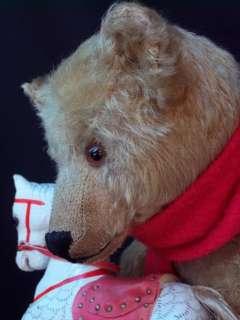 OUTSTANDING ANTIQUE STEIFF TEDDY BEAR LONG NOSE 15.7´  1905 w ROCKING