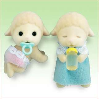 JP Sylvanian Families Sheep Twins Baby Doll HI 06