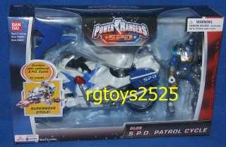 Power Rangers SPD Blue SPD Patrol Cycle w Ranger New