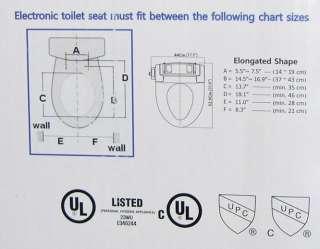 NEW IntelliSeat Electronic Bidet Auto Toilet Heated Water Air Dryer