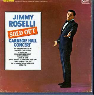 Reel to Reel JIMMY ROSELLI   SOLD OUT, CARNEGIE HALL CONCERT   7½