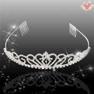 Gorgeous Wedding Bridal Rhinestone Crown Headband