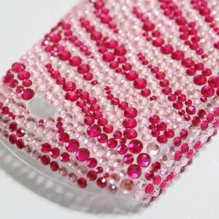Bling Diamond Pink Zebra Hard Case Cover For Samsung Galaxy mini S5570