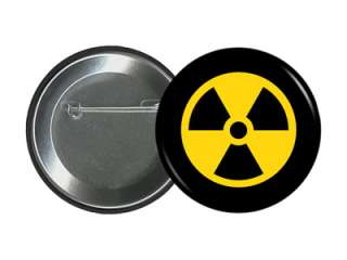 25 PIN Design #1 Nuclear Waste Science Warning Pinback Button Badge