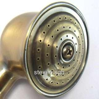 Antique Brass Telephone Style Bathroom Hand Held Shower