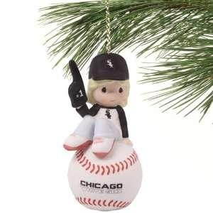 Precious Moments Chicago White Sox Baseball Girl Ornament