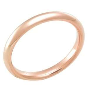 3.0 Millimeters Rose Gold Heavy Wedding Band Ring 18kt Gold