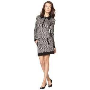 TARGET Womens Famiglia Black & White Polo Sweater Shirt Dress