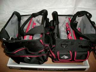 RYOBI 5IN SANDER AND 2 NAMEBRAND ELECTRICIANS TOOL BAGS