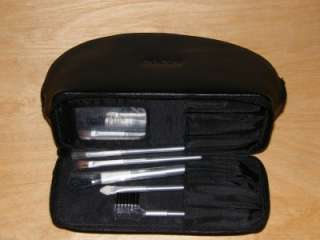 with 5 travel brushes this cosmetic case is a plus for travel or