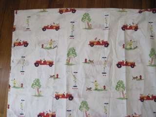 KIDS Red Fire Truck Firefighters To The Rescue Duvet Cover TWIN