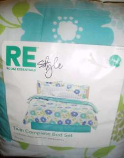 TWIN COMPLETE BED SET COMFORTER SHEET SET