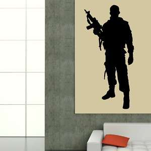 SOLDIER BRITISH ARMY MAN WALL ART STICKER DECAL VINYL PICTURE TATTOO