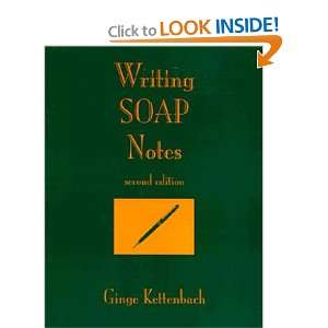 writing a soap note Soap stands for subjective, objective, assessment, and plan the soap note is a daily progress report in the patient's chart, and so it is different from the comprehensive admit note you learned to write in physical diagnosis.